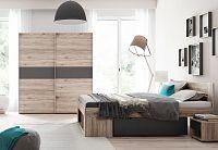 Casarredo Ložnice ROMA (postel 160, skříň, 2 stolky)