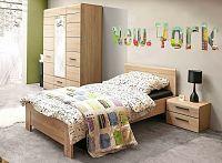 Casarredo Ložnice SOLO (postel 90, skříň 3D2S, noční stolek) sonoma