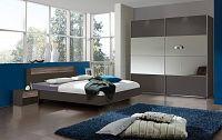 Casarredo Ložnicová sestava ILONA 791+293+698 grafit/dub bahenní
