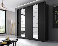 Casarredo Šatní skříň 14 ARTI  zrcadlo černá