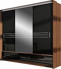 Casarredo Šatní skříň AMSTERDAM 250L se zrcadlem černá