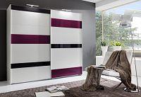 Casarredo Šatní skříň MONDRIAN 860 bílá/šedá/fialová