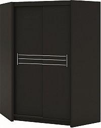Casarredo Šatní skříň rohová HAVANA černá