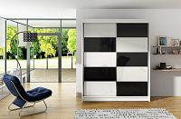 Casarredo Šatní skříň VITO II bílá/černá
