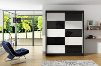 Casarredo Šatní skříň VITO II černá/bílá