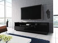 Casarredo Televizní stolek RTV 2 černá/černá lesk
