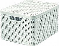 Curver Box s víkem STYLE - L - krémový