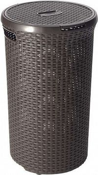 Curver Koš na prádlo ROUND STYLE 48L - hnědý