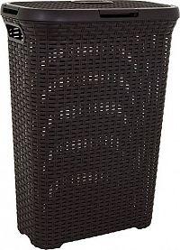 Curver Koš na prádlo STYLE RATTAN 40L - hnědý
