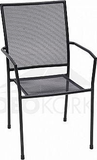 Deokork Kovová židle MAYA (černá)