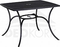 Deokork Kovový stůl QUADRA x cm (černá)