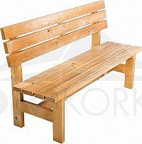 Deokork Masivní dřevěná zahradní lavice TEA 04 o síle 38 mm