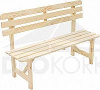 Deokork Masivní dřevěná zahradní lavice z borovice dřevo 22 mm