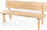 Deokork Masivní zahradní lavice z borovice VIKING (40 mm)