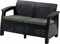 Deokork Zahradní ratanová pohovka 2-místná CORFU LOVE SEAT (hnědá)