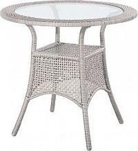 Dimenza Zahradní ratanový stůl BERLIN - šedý
