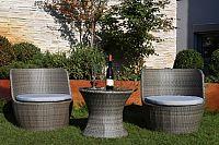 Dimenza Zahradní SYDNEY skládací set - šedohnědý