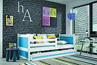 Falco Dětská postel Riky  - bílá/modrá