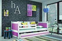 Falco Dětská postel Riky  - bílá/růžová