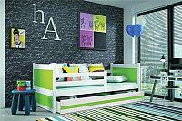 Falco Dětská postel Riky  - bílá/zelená