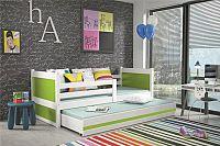 Falco Dětská postel Riky II  - bílá/zelená