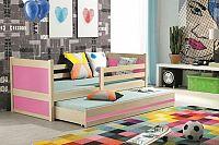 Falco Dětská postel Riky II  - borovice/růžová