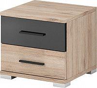 Falco Noční stolek Neapol 22 - San Remo sand/černý lesk
