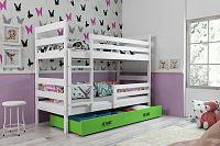 Falco Patrová postel Norbert bílá/zelená