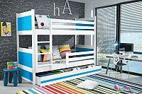 Falco Patrová postel Riky - bílá/modrá