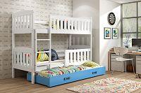 Falco Patrová postel s přistýlkou Kuba bílá/modrá