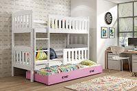 Falco Patrová postel s přistýlkou Kuba bílá/růžová