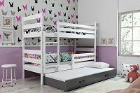 Falco Patrová postel s přistýlkou Norbert bílá/grafit