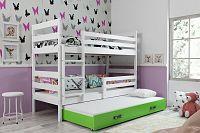 Falco Patrová postel s přistýlkou Norbert bílá/zelená