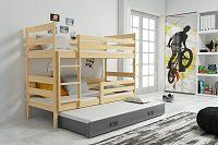 Falco Patrová postel s přistýlkou Norbert borovice/grafit