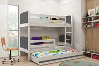 Falco Patrová postel s přistýlkou Tamita bílá/grafit