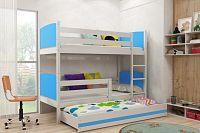 Falco Patrová postel s přistýlkou Tamita bílá/modrá