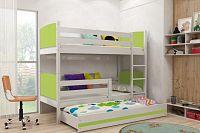 Falco Patrová postel s přistýlkou Tamita bílá/zelená