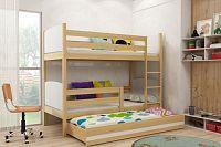 Falco Patrová postel s přistýlkou Tamita borovice/bílá