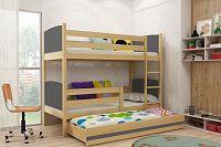 Falco Patrová postel s přistýlkou Tamita borovice/grafit