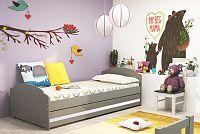 Falco Postel Lizzie 90x200 grafit/bílý pásek