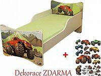 Forclaire Dětská postel Auto postel bez úložného prostoru 200x90cm