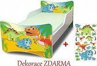 Forclaire Dětská postel Dino postel bez úložného prostoru 200x90cm