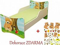 Forclaire Dětská postel Medvídek postel bez úložného prostoru 200x90cm