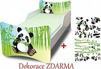 Forclaire Dětská postel Panda postel bez úložného prostoru 200x90cm