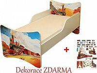 Forclaire Dětska postel Vláček postel bez úložného prostoru 200x90cm