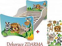Forclaire Dětská postel Zoo postel bez úložného prostoru 200x90cm