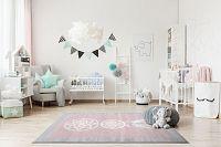 Forclaire Dětský koberec Lapač snů - růžovo-šedý