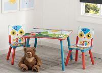 Forclaire Dětský stůl s židlemi Lesní zvířátka