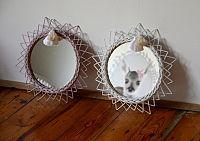 Forclaire Proutěné zrcadlo - bílé