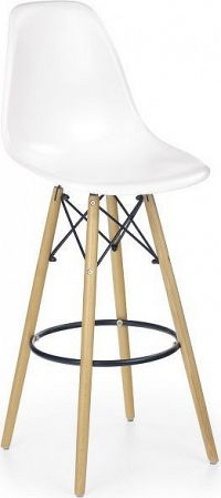 Halmar Barová židle H-51, bílá